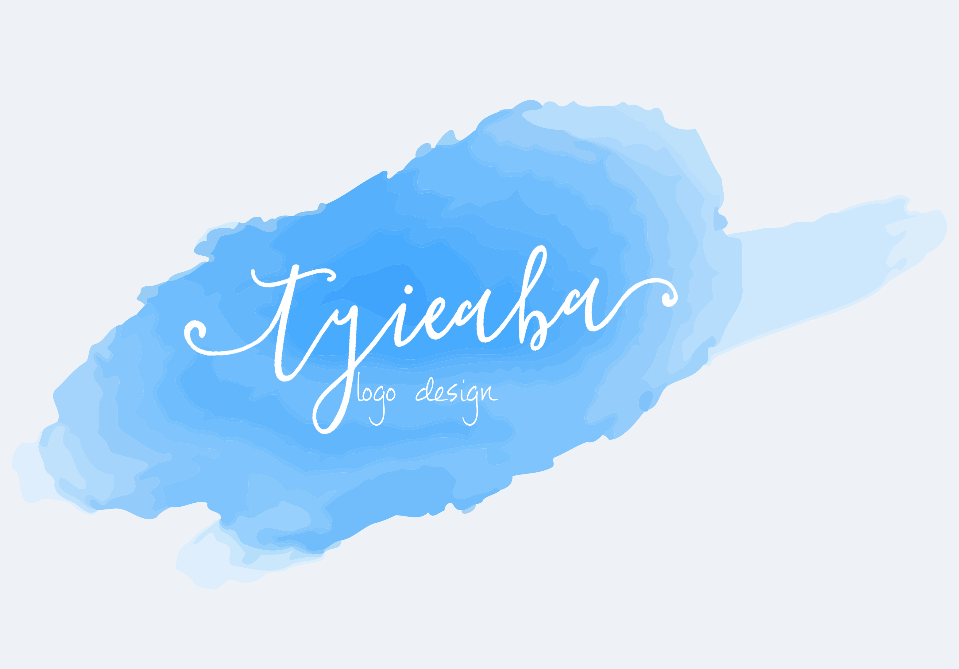 make a girly Watercolor logo