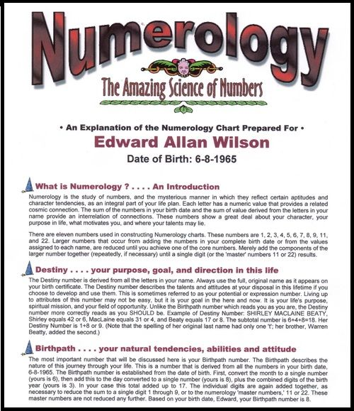Personalized Amazing Numerology