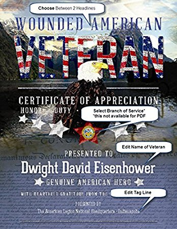 Personalized American Veteran