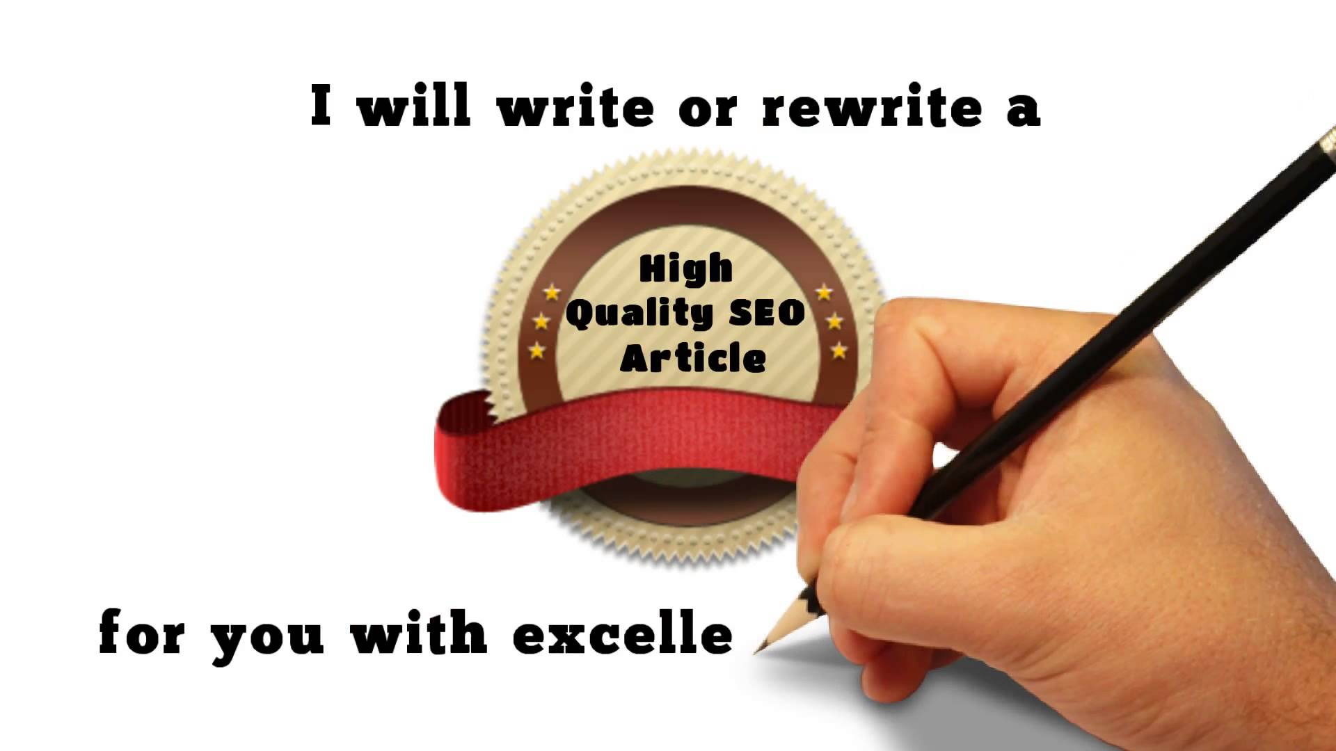 write 5 vital articles