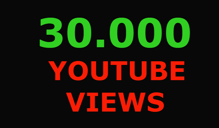 30000 youtube views