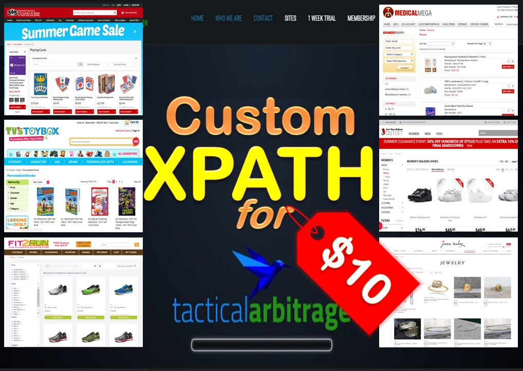 Create Custom XPath for Tactical Arbitrage
