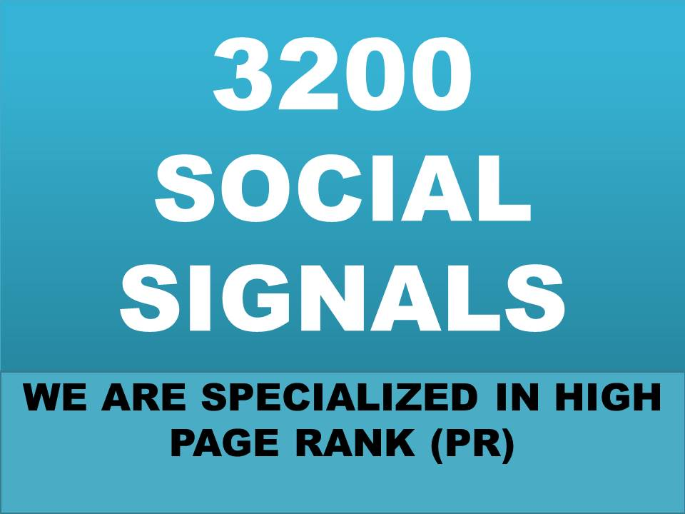 build organic 3200 social signals will be created from authority social media site