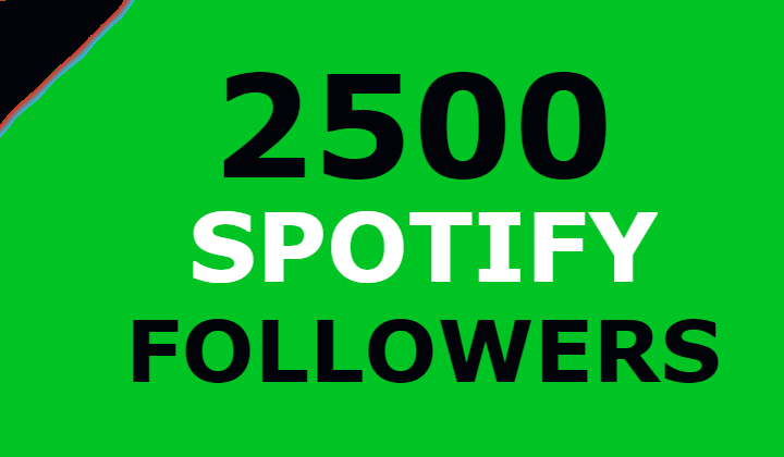 2500 Spotify Followers Guaranteed