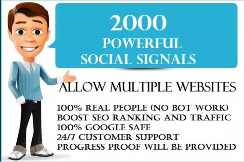 Provide 2,000 PR9 Social Signals Monster Pack BEST for SEO