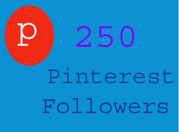 Provide 250 pinterest followers