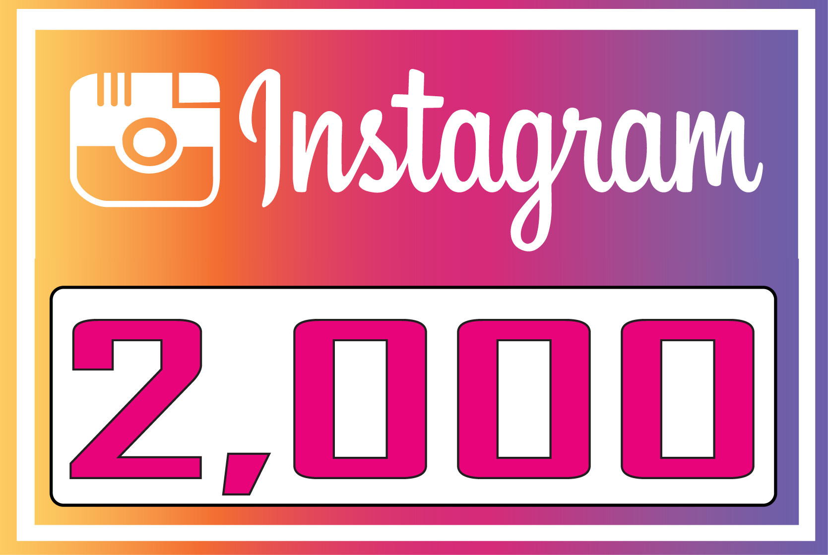 Add 2,000 Instagram fast Followers