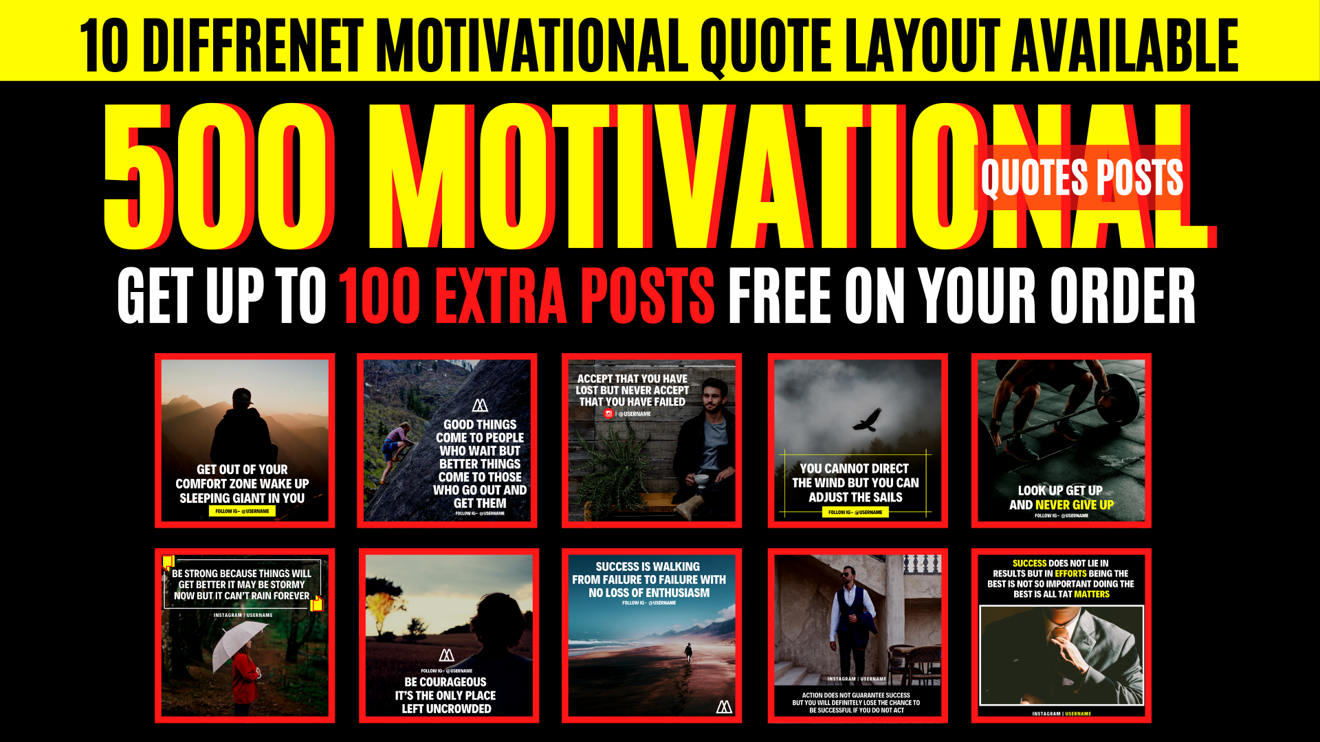 create 500 motivational quotes posts