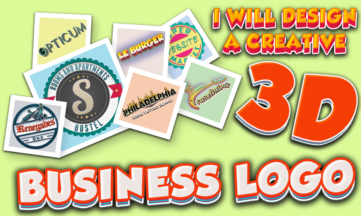 design a creative 3d business logo