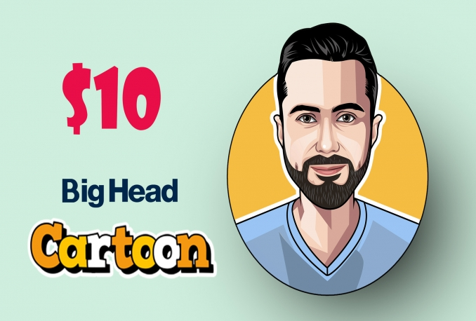 design Big head cartoon caricature from your photos