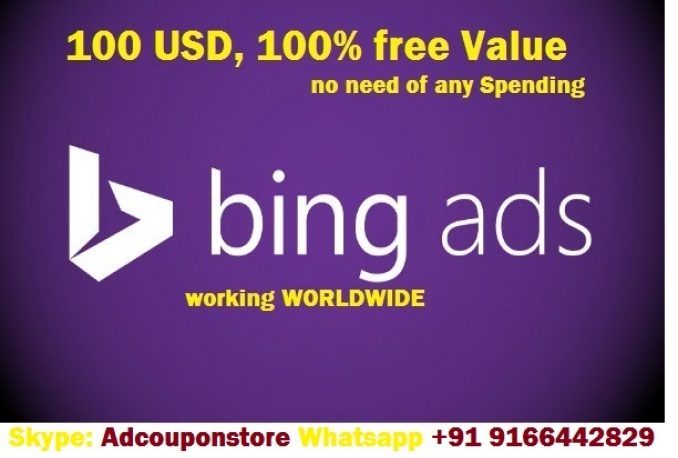 provide you bing 100 USD coupon code with no initial investment
