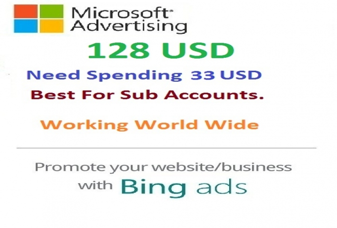 provide you bing 128 USD coupon with Spending 33 USD
