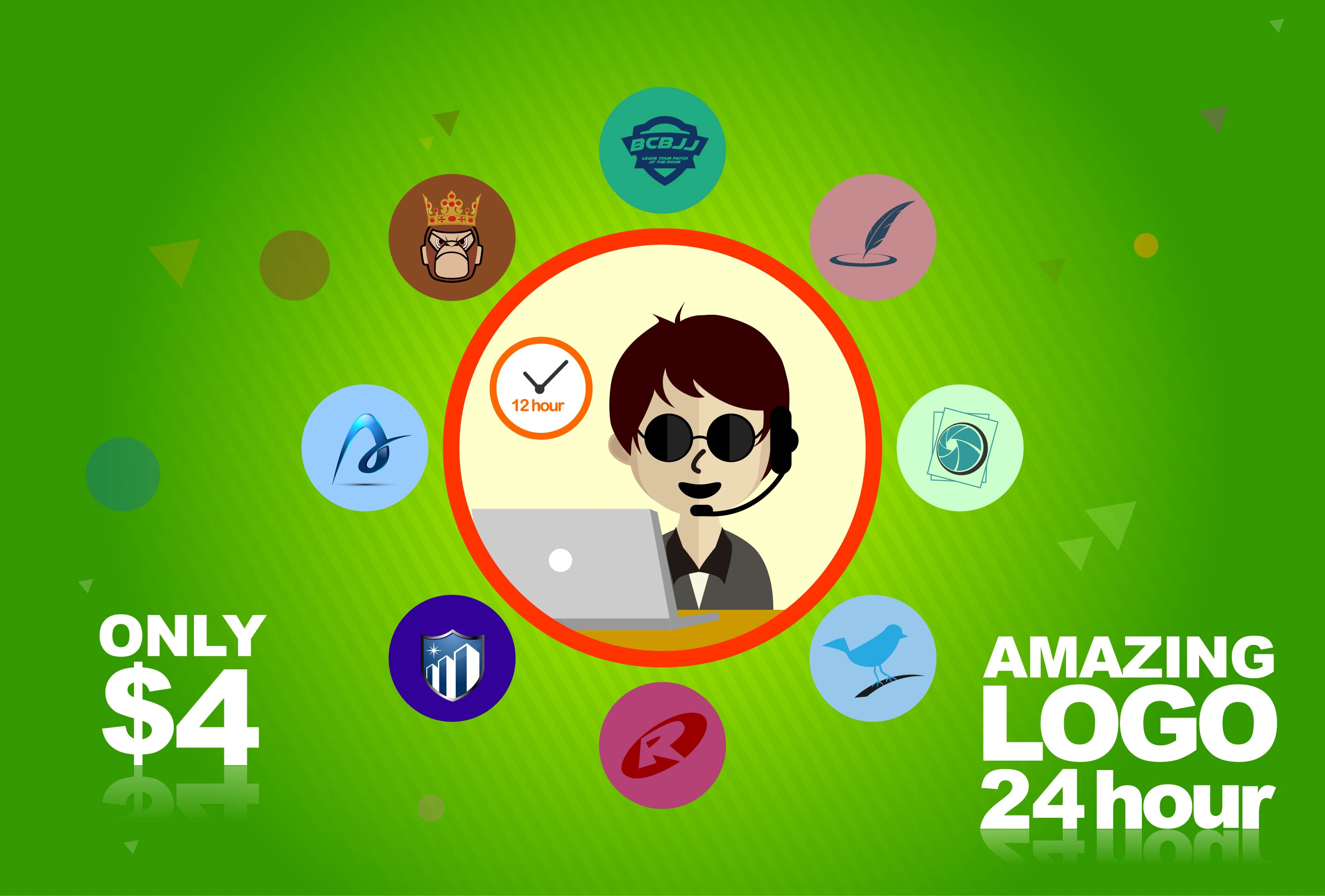 design AWESOME logo in 24 HOUR