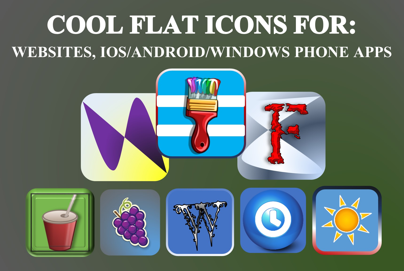 design a cool flat ICON for web or app