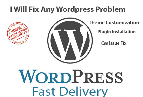 fix WordPress issues and Themes customization in 6 hours