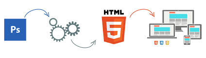 convert psd to html and bootstrap
