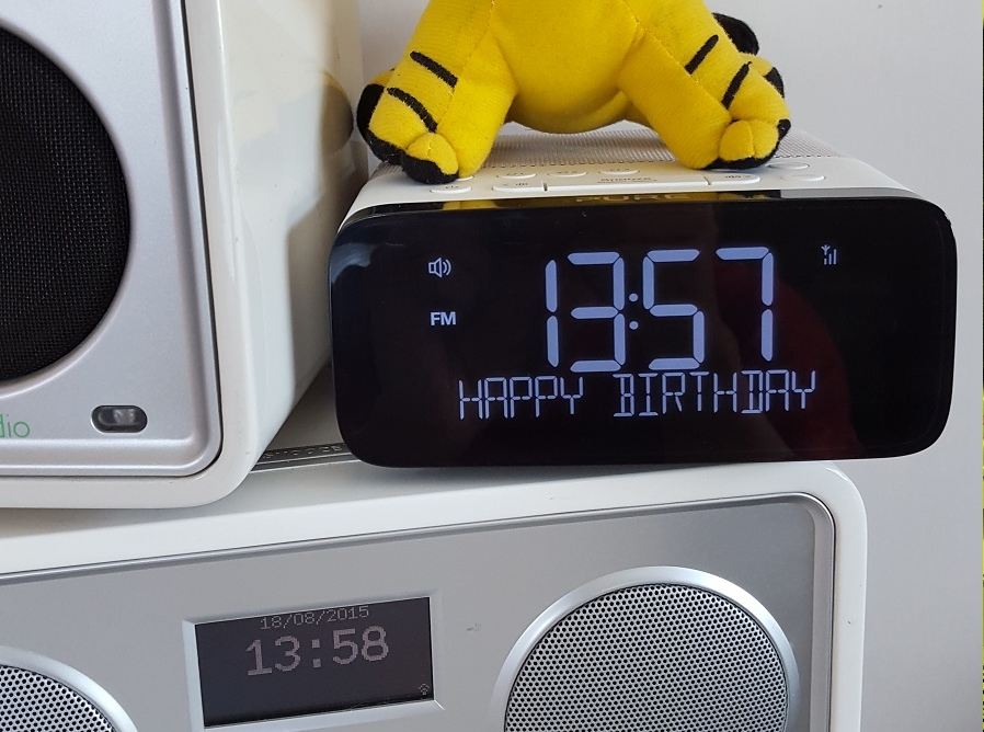 put your name or personal message on a real radio