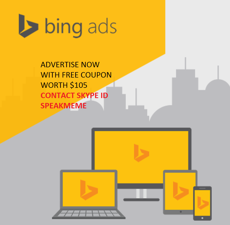 Bing 105$ Coupon For New Accounts