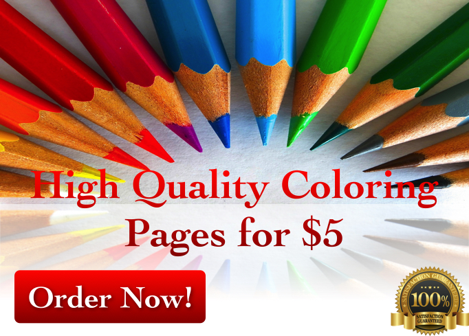 create 10 high quality coloring pages