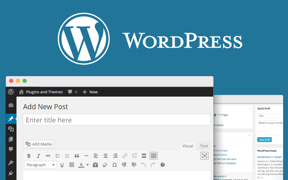 create wordpress site