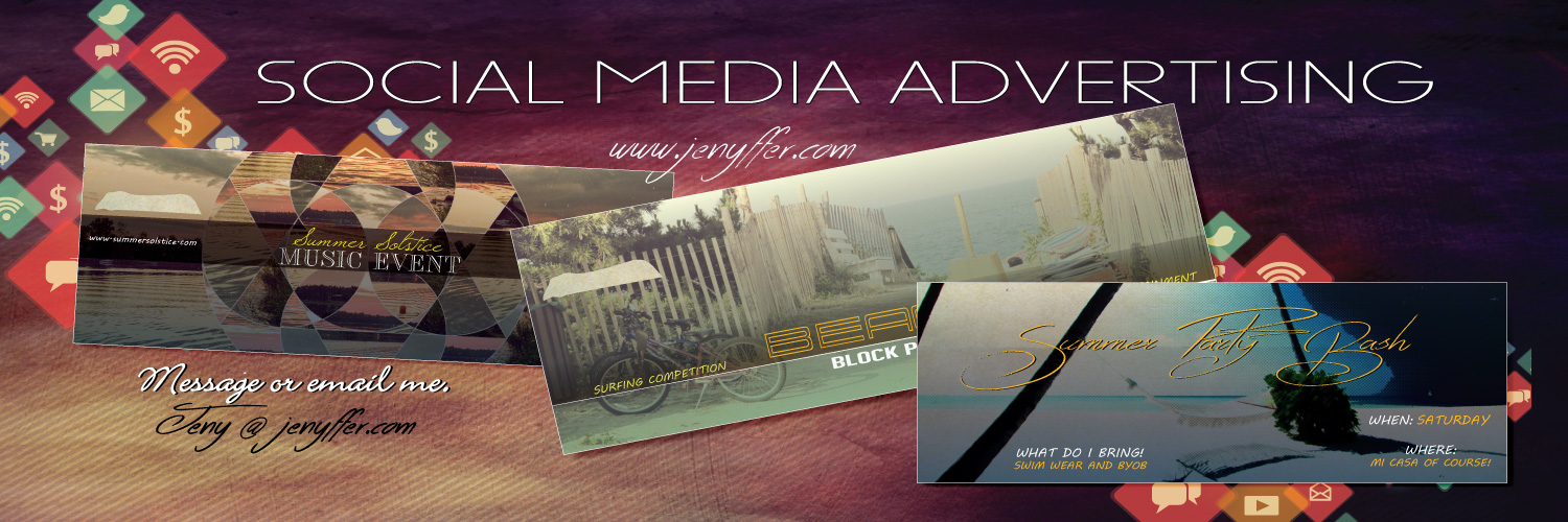 create advertisement for your social media page