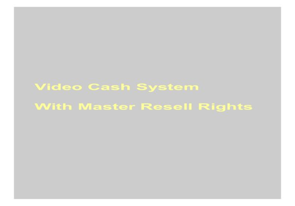 give Video Cash System