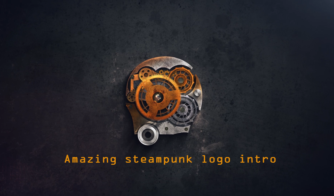 create an amazing steampunk logo intro