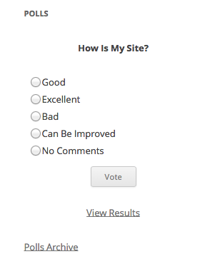 Create poll and take vote in WordPress