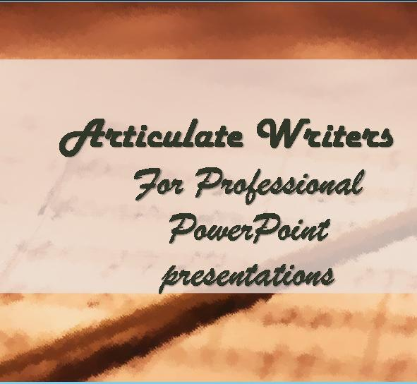 make an attractive and informative powerpoint presentation