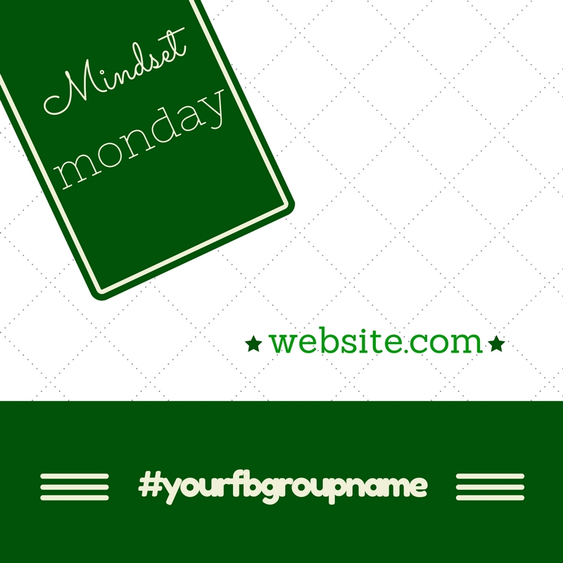 give you template to brand fb group daily post
