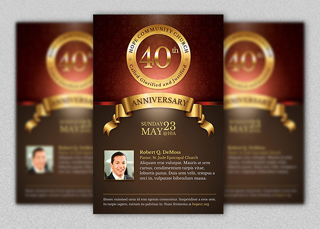 design a professional and eye catching flyer/poster for your event