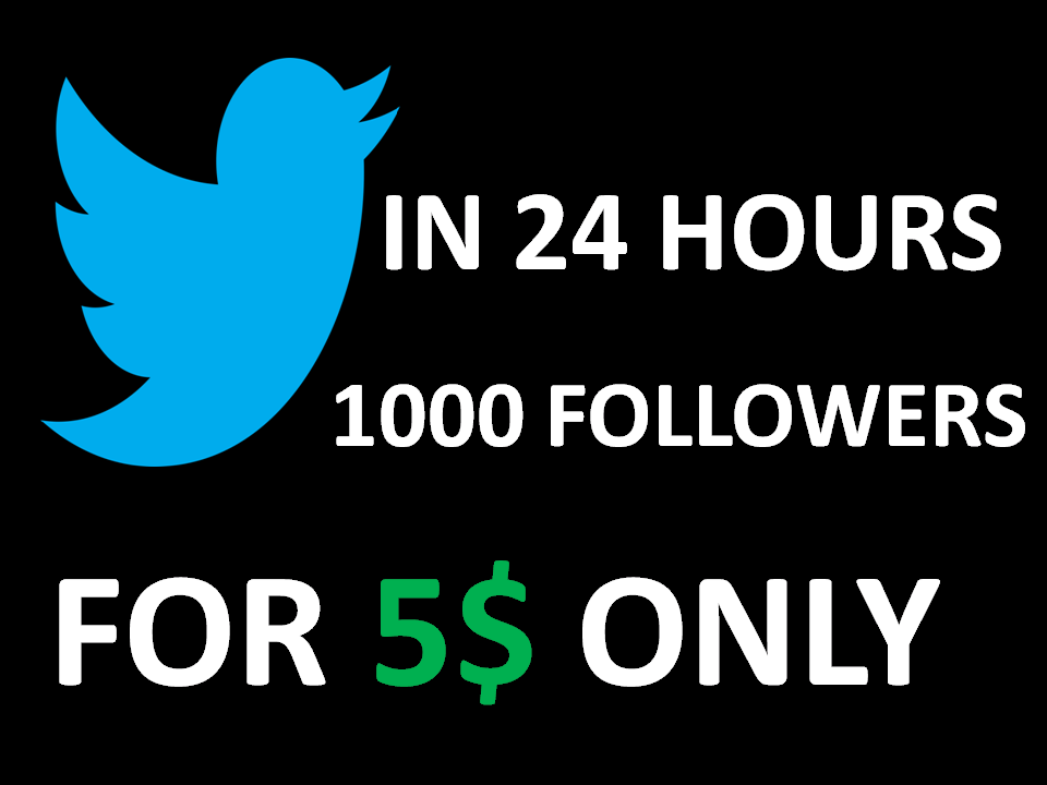 1000 high quality twitter followres