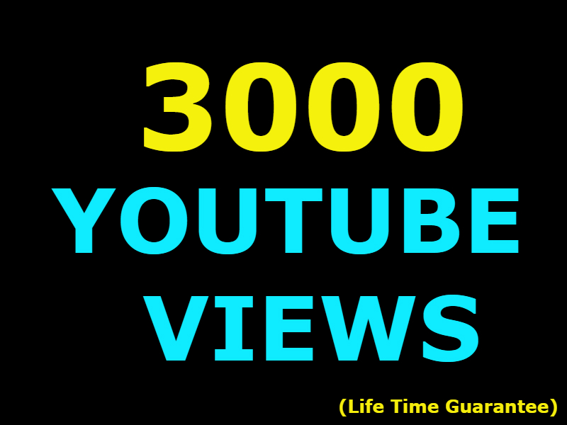 3000 Youtube views +200 likes LIFE TIME GUARANTEED