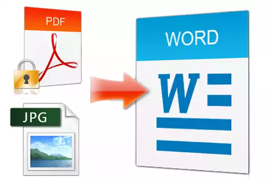 convert pdf/jpg/png to word or any format and make your file editable