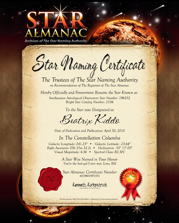 Personalized Star Almanac- Name A Star After YOU