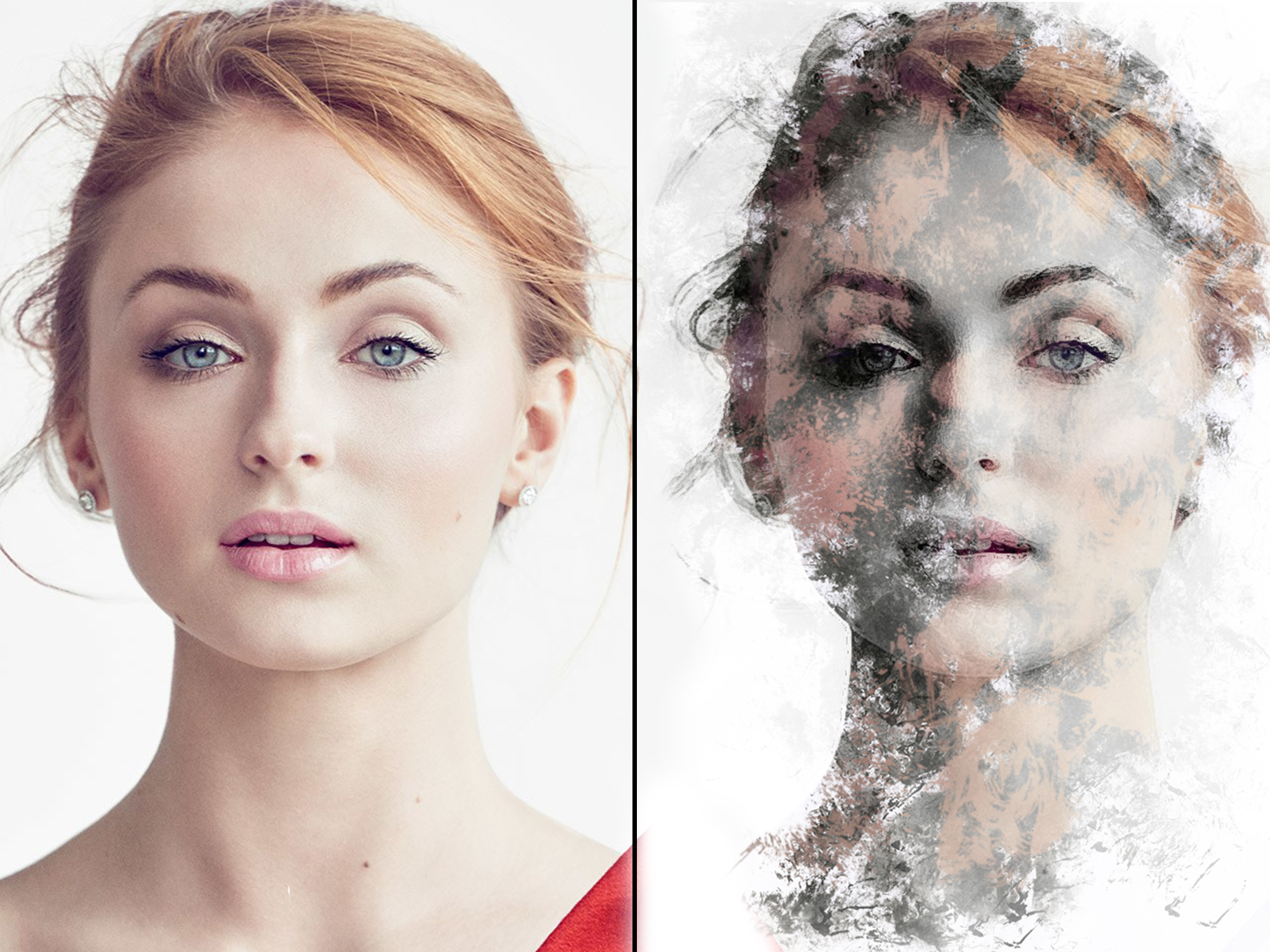 turn your photos into smudge painting