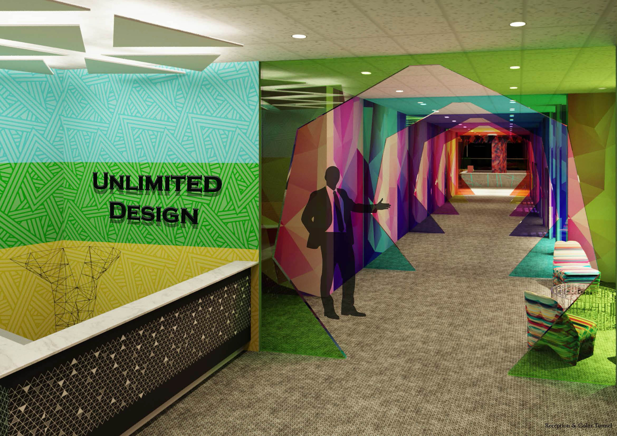 design an office interior space