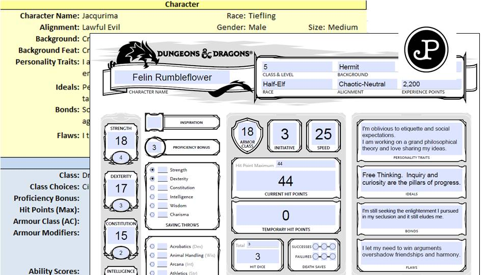 create a unique player-character for dungeons and dragons 5th edition