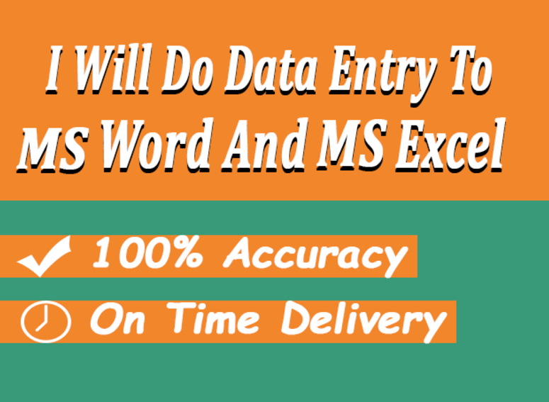 do any Data Entry Job within 24 Hours