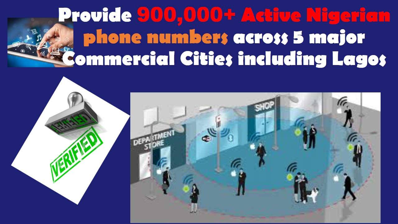 provide 100,000 Active Nigerian phone numbers across 5 major Commercial Cities including Lagos