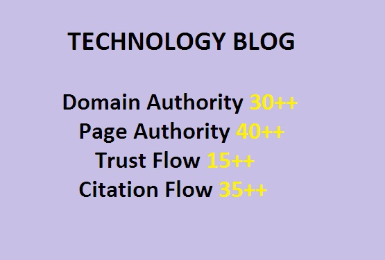Guest Post on High-Quality Technology Blogs