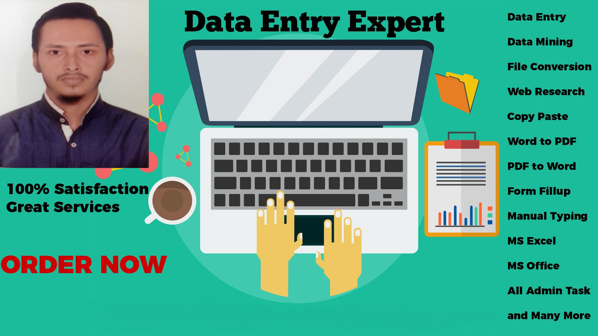 Be Your Virtual Assistant Or Do Accurate Data Entry for 2 Hrs