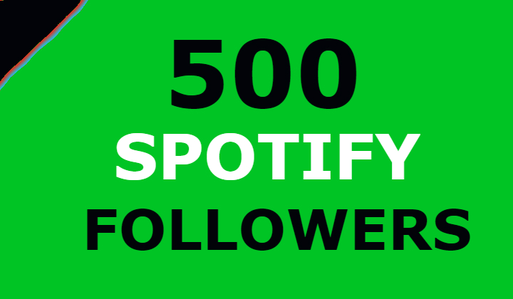 500 Real Spotify Followers - Lifetime guarantee