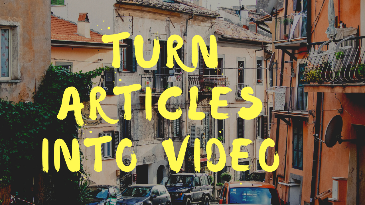Turn your script into Video for low fee