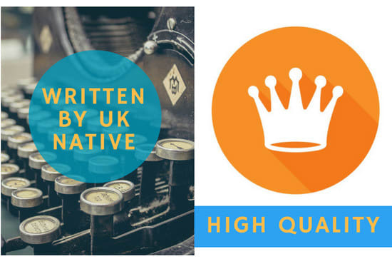 write a high quality SEO article or blog post in 24 hrs