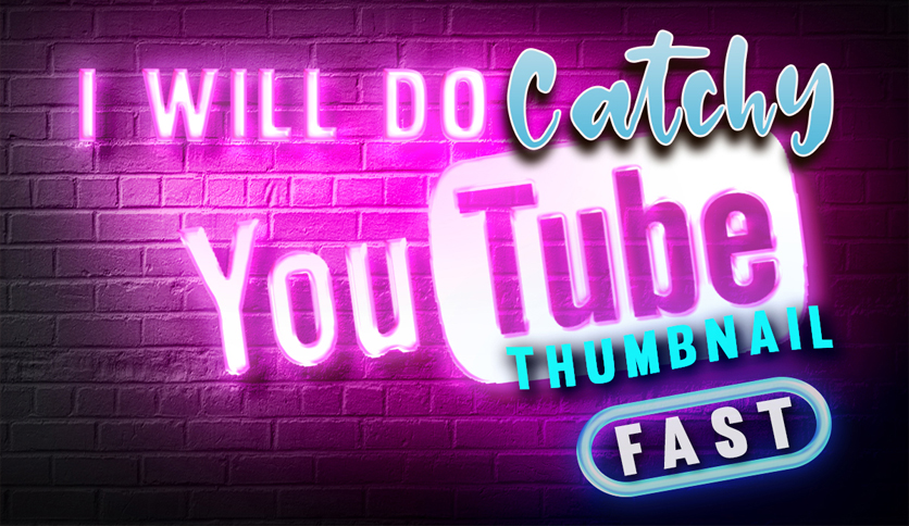 design a attractive youtube thumbnail in less than 24 hours