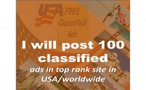 publish your ads in 50 top USA and wordwid classified ad posting site