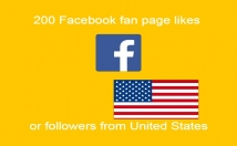 send you 200 Facebook fan page likes from United States