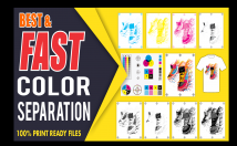 do Color Separation for Screen Print and Vector Tracing