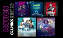 create a motion graphics for event flyers or music artwork